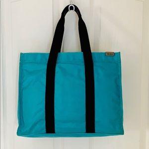 Tumi Nylon Satchel W/ Pure Leather Handles